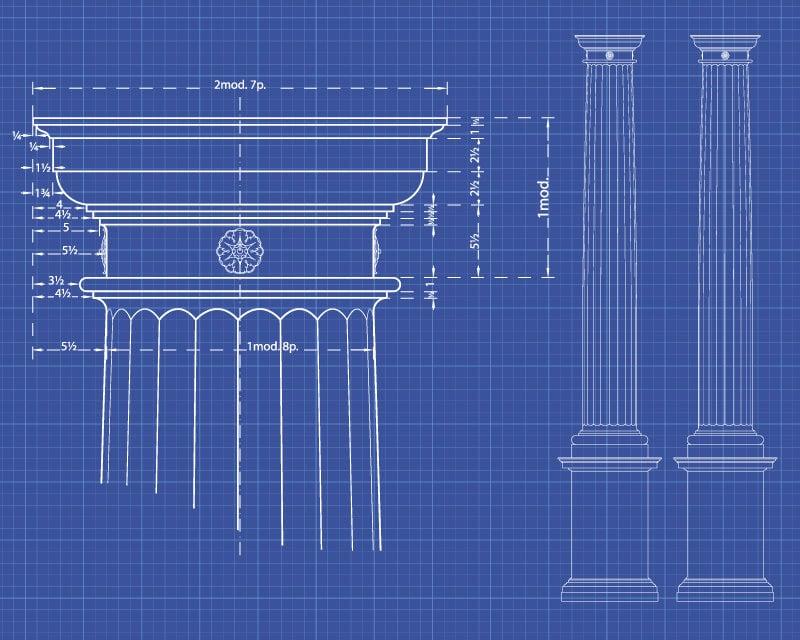Doric column diagram