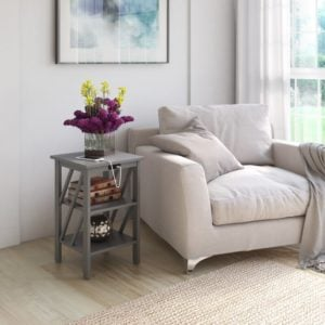 Stylish side table with USB port