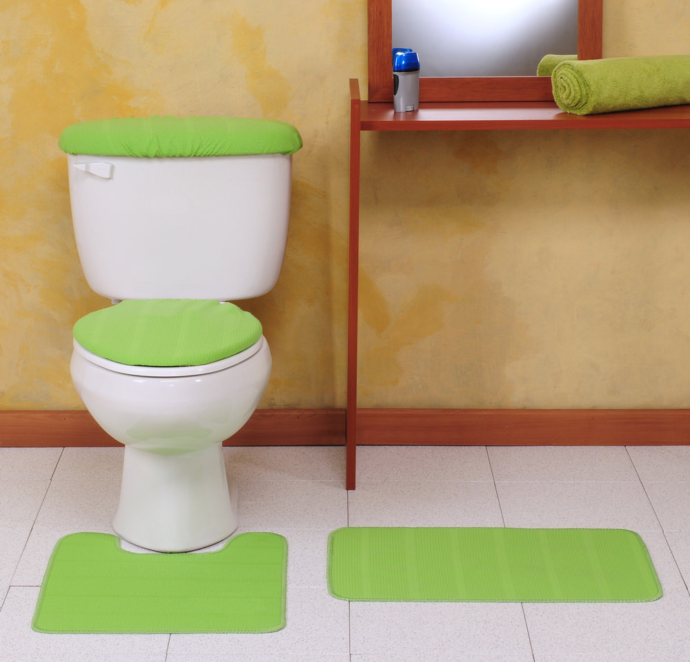 Examples of two types of bathroom mats
