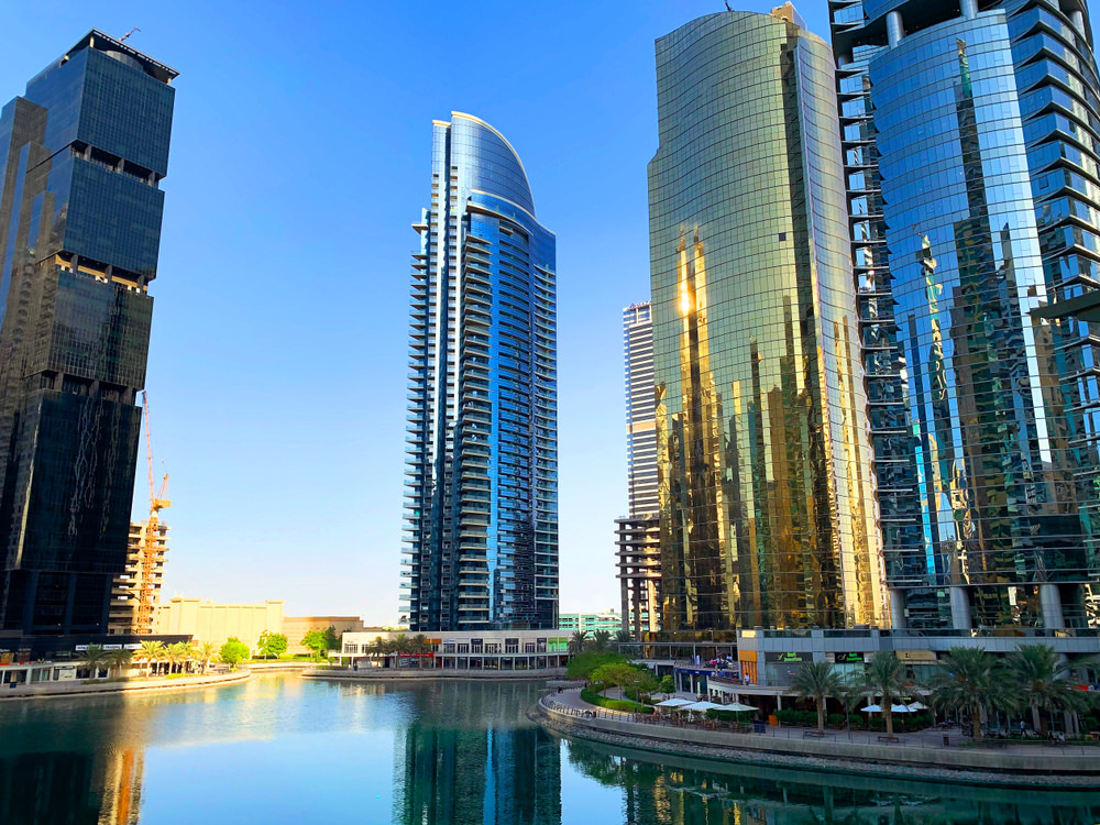 Glass skyscrapers in Dubai