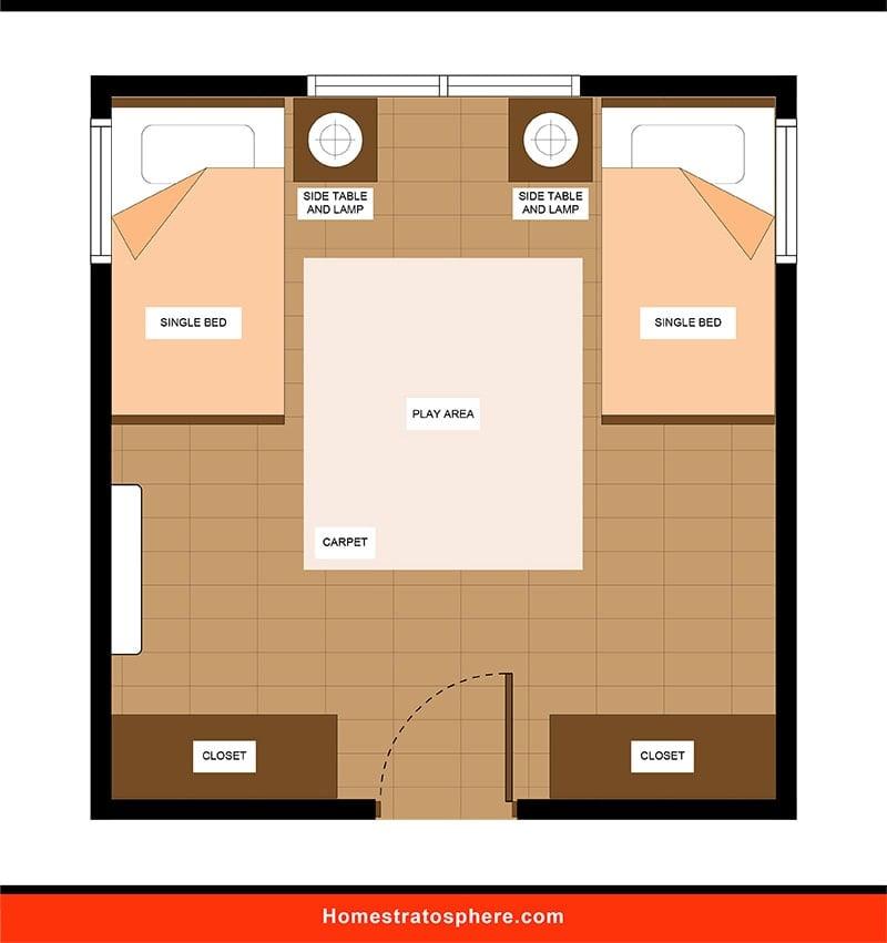 Kids' Bedroom: Play Area-Focused