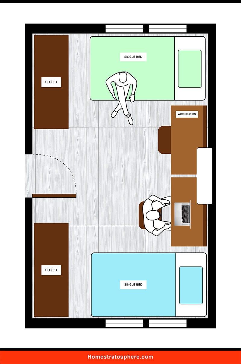 Kids' Bedroom: Student's Study Lair