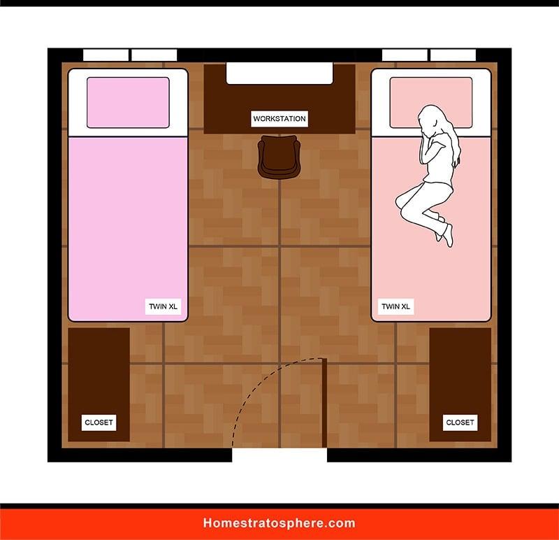 Kids' Bedroom: Shared Workstation
