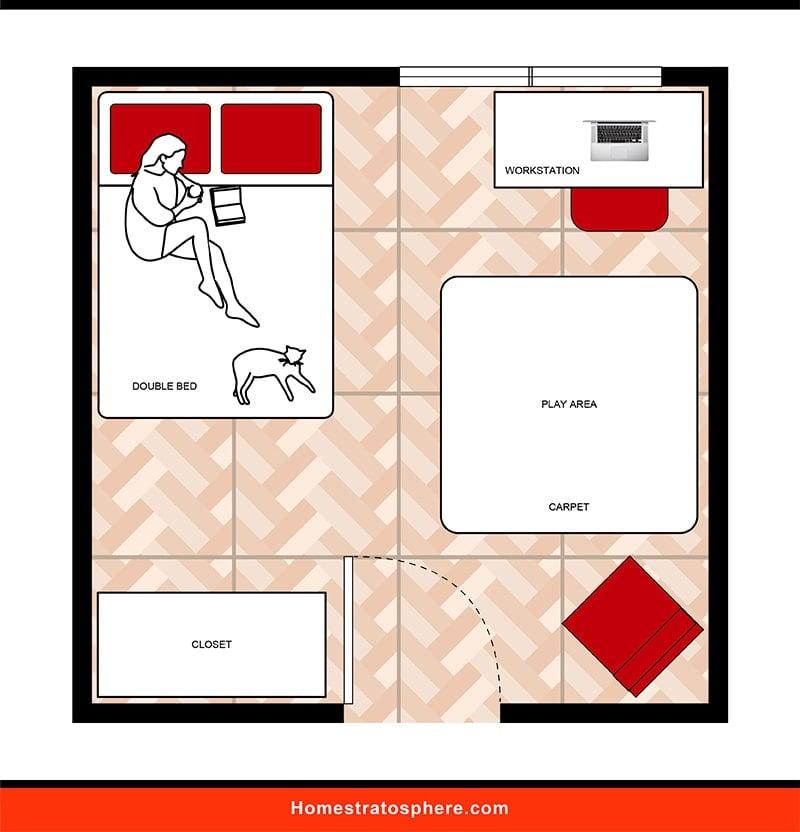 Kids' Bedroom: Older Child Configuration