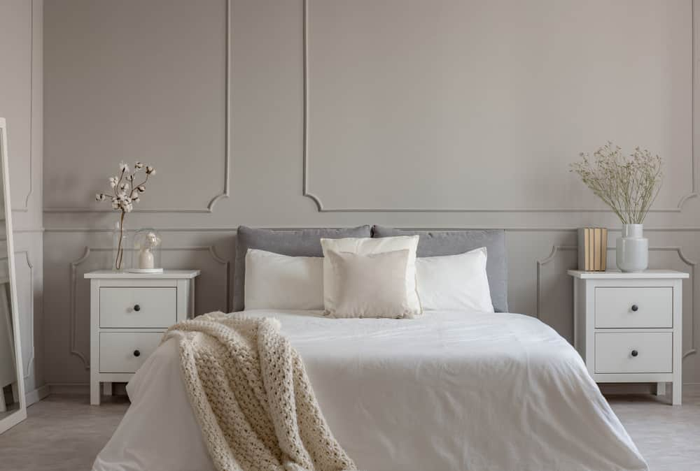 Luxury bedroom with stylish nightstands