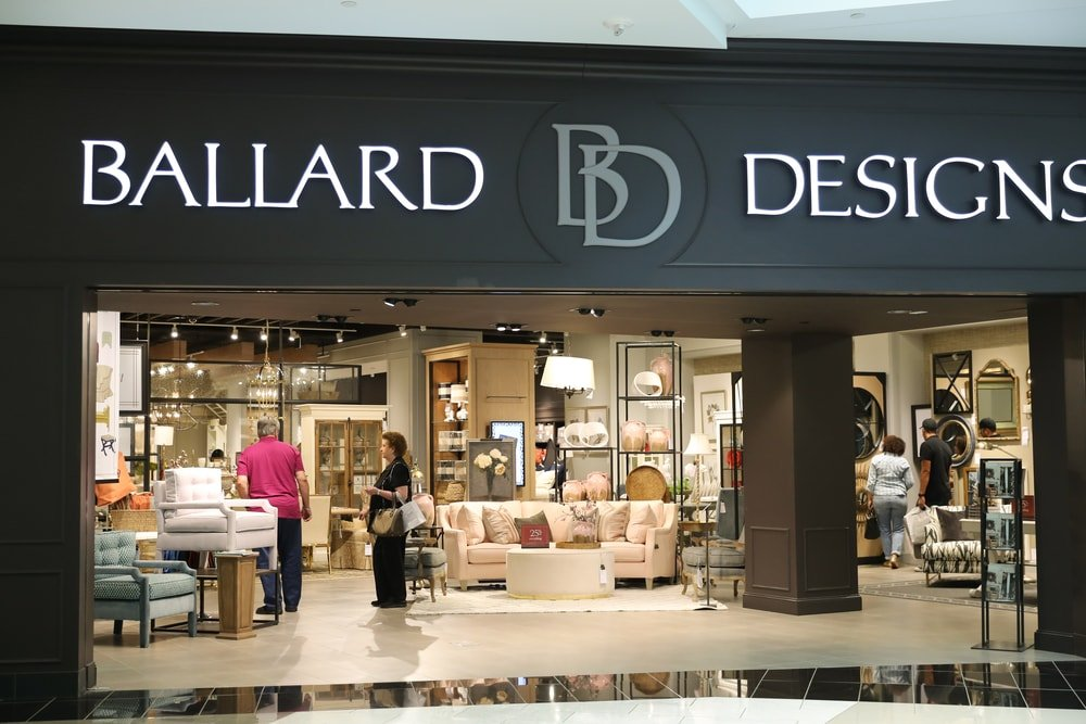 Ballard Designs Store at King of Prussia, PA, USA.