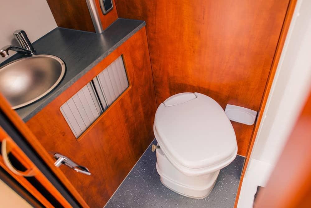 Cassette Toilet in an RV