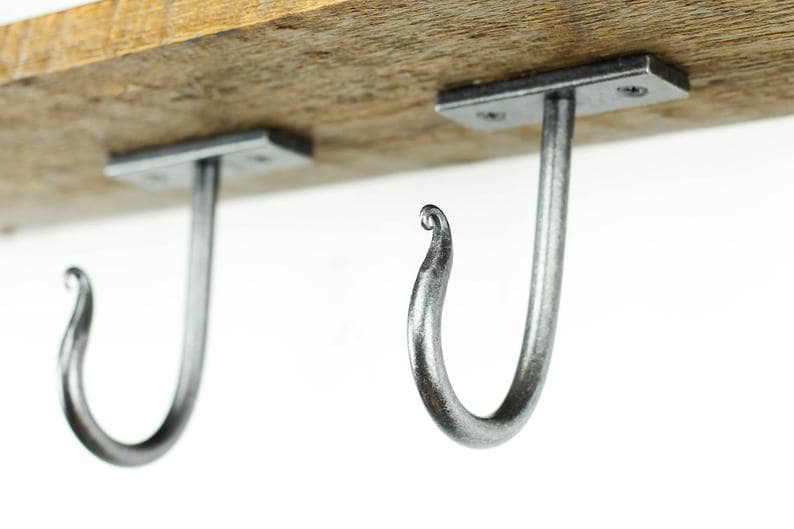 Hooks Screwed Directly into the Wall or Ceiling