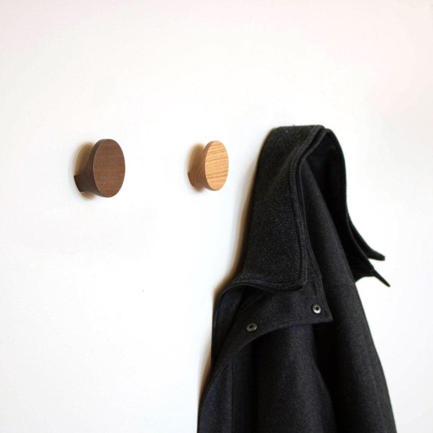 Wooden coat hooks