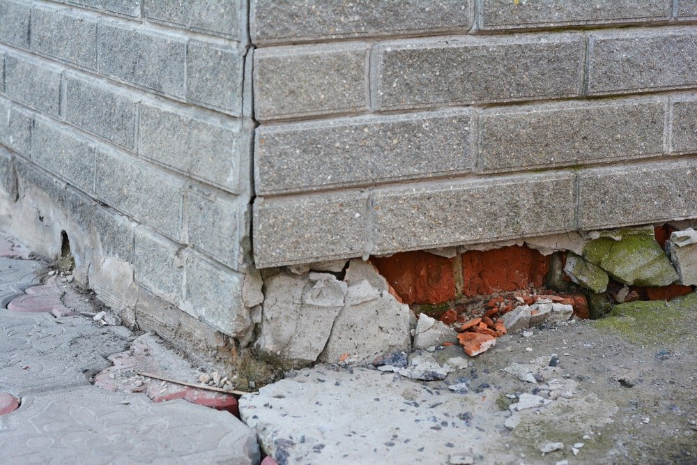 Foundation in need of repair