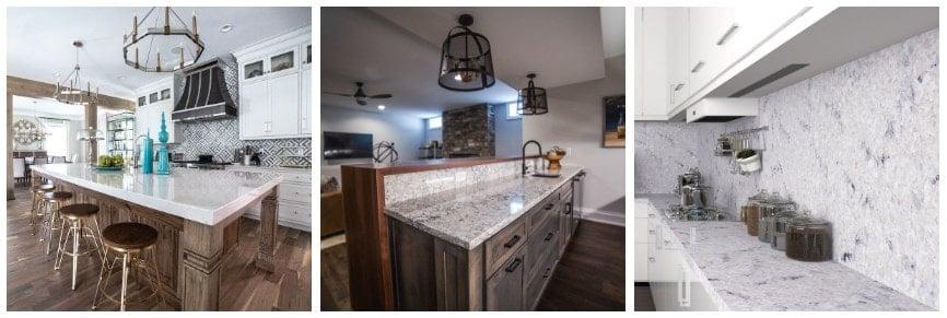 Sample of Hanstone Quartz countertops for the kitchen.