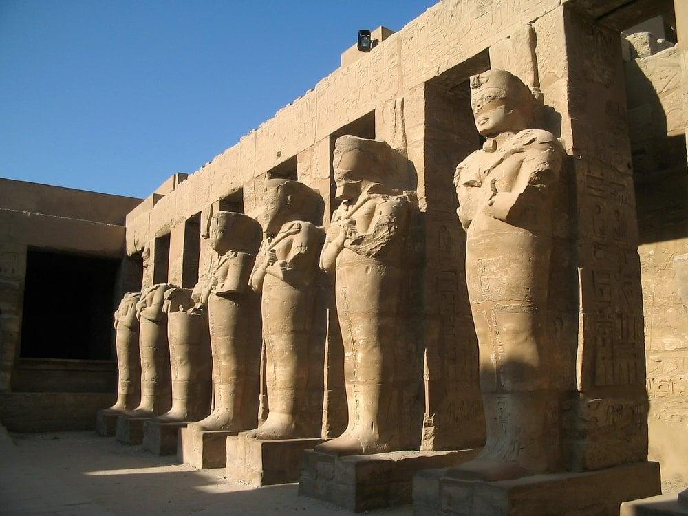 Osiride Pillars at the Karnak Temple Complex.
