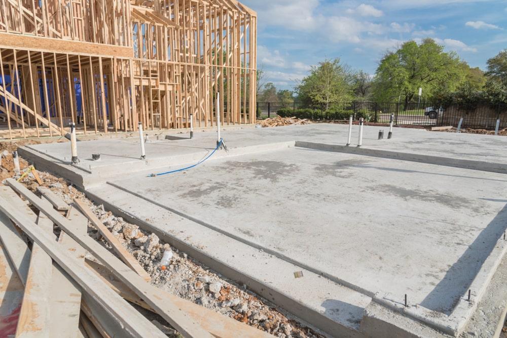 Slab on grade foundation