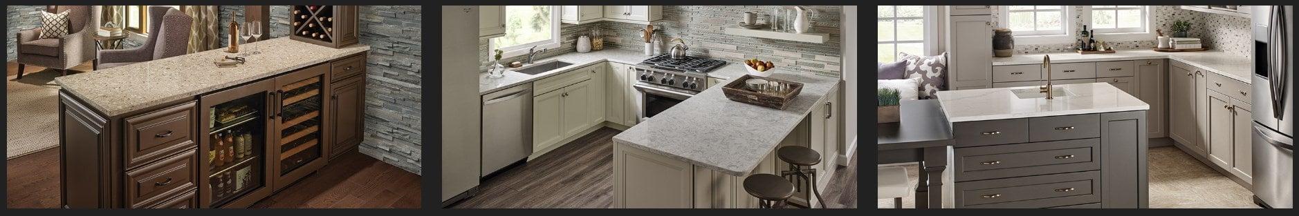 Sample of MSI Q Quartz countertops for the kitchen.