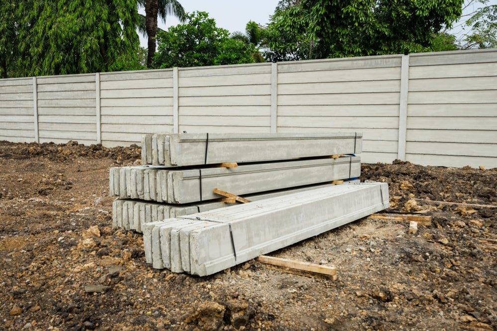 Precast Concrete Panel on raw ground.