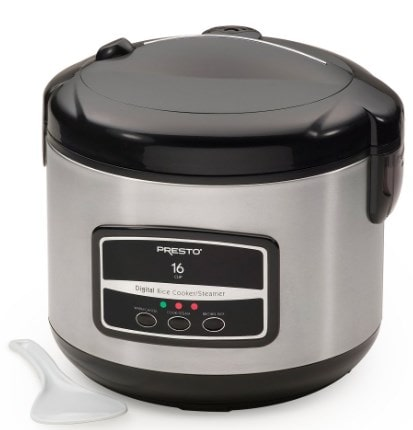 Presto 16-Cup Digital Rice Cooker and Steamer