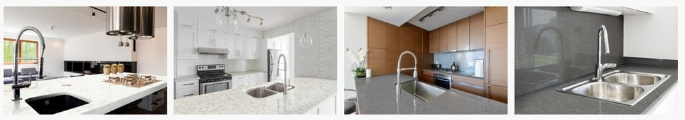 Sample of Radiance Quartz countertops for the kitchen.