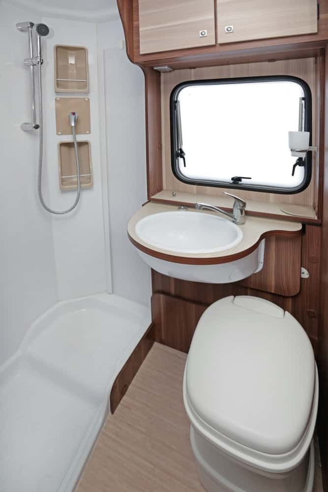 RV bathroom interior