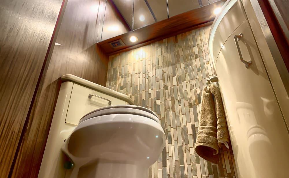 Luxury bathroom in an RV.
