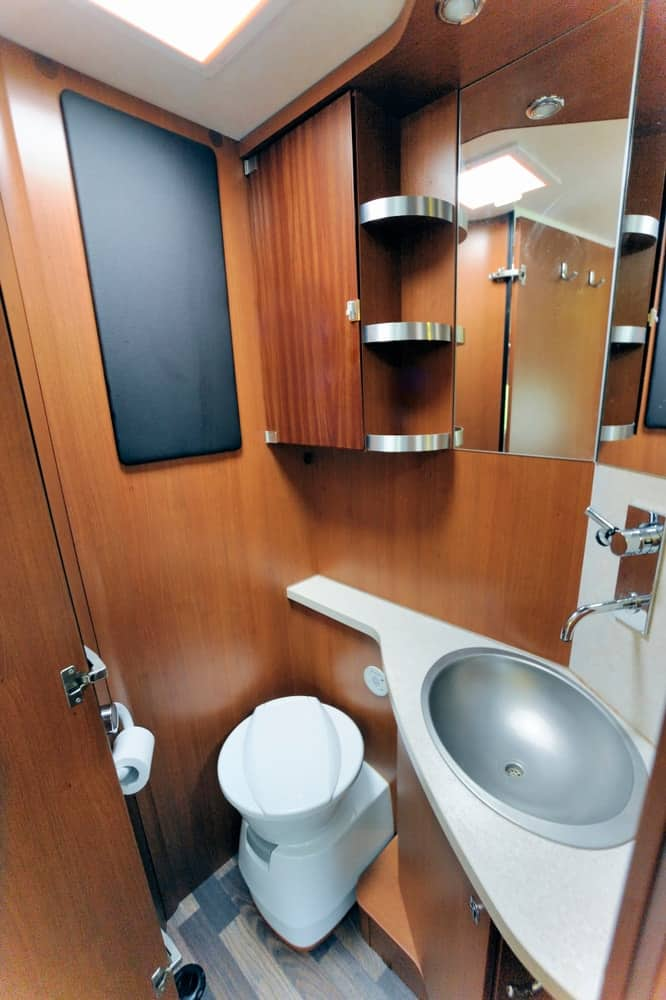 RV washroom interior