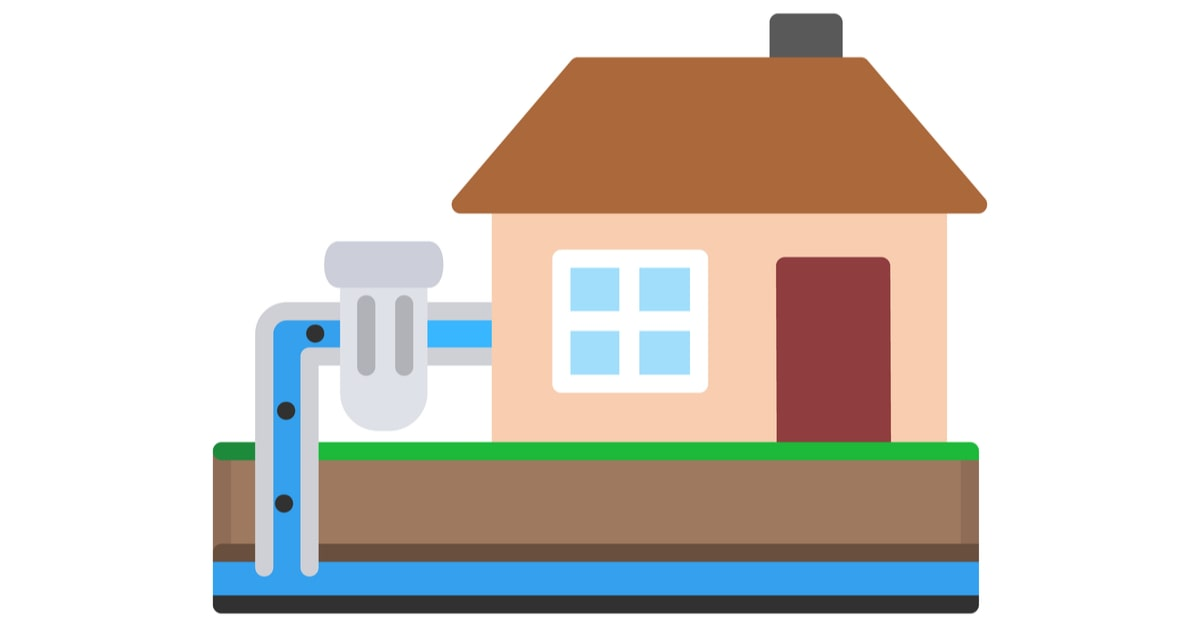 Illustration of a water source heat pump.