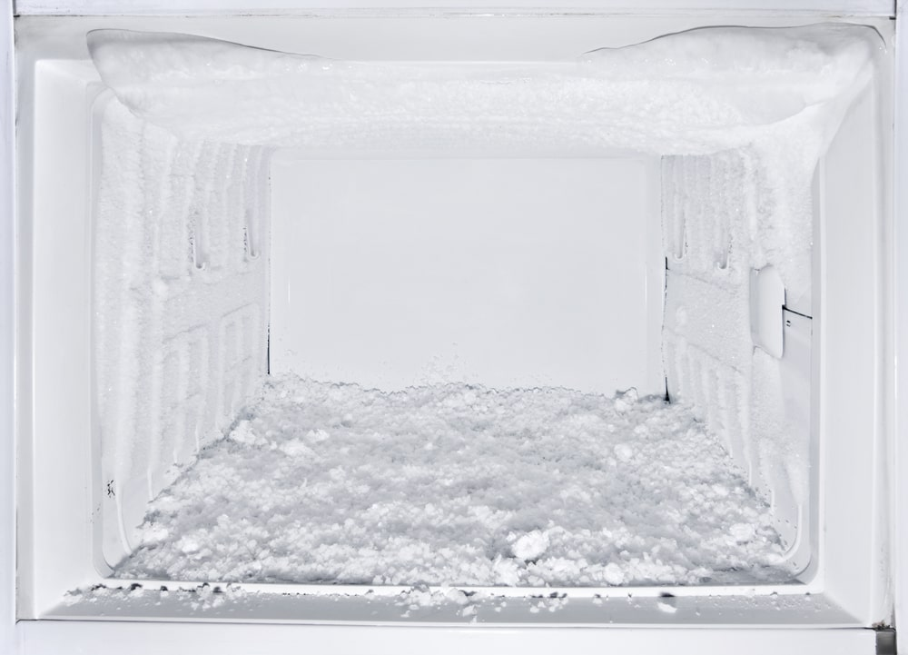 Frosty and empty freezer