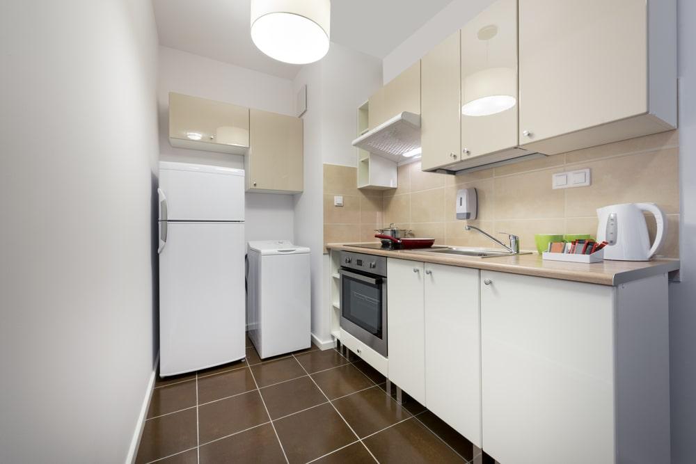Small white kitchen interior.