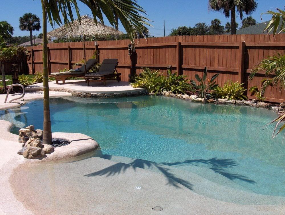 Zero Entry Backyard Swimming Pools