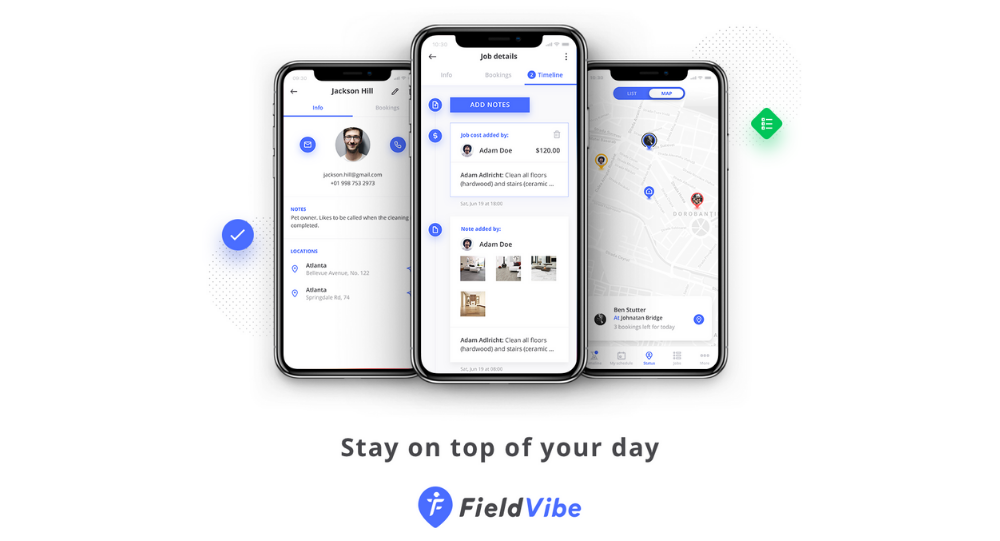 FieldVibe app for field service workers (trades)