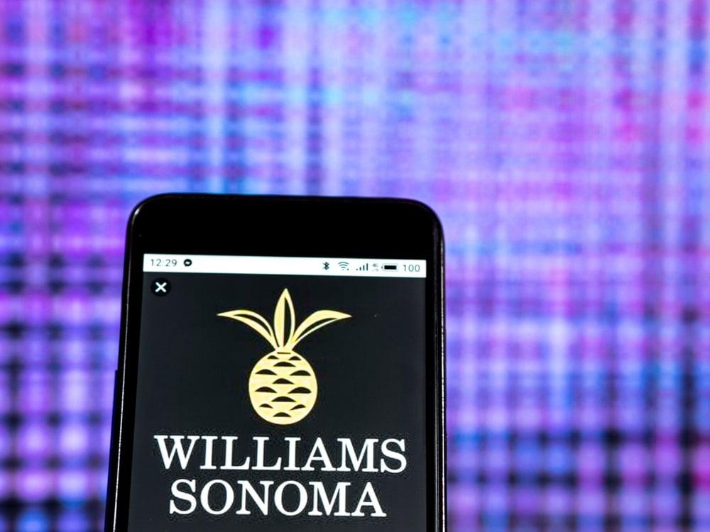 Williams-Sonoma logo displayed on a smartphone.