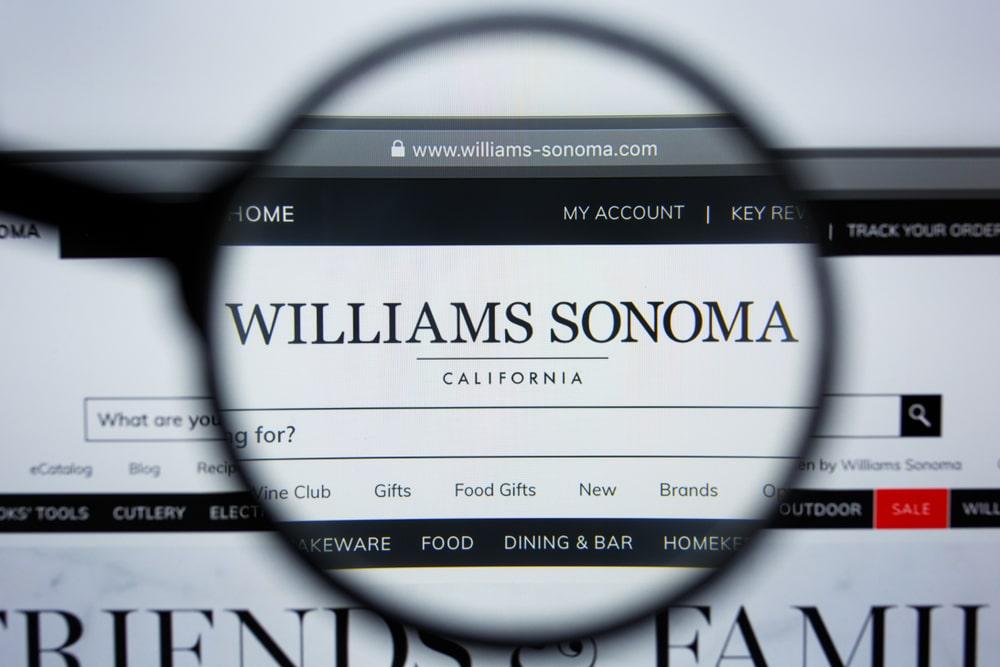 Williams-Sonoma website homepage.