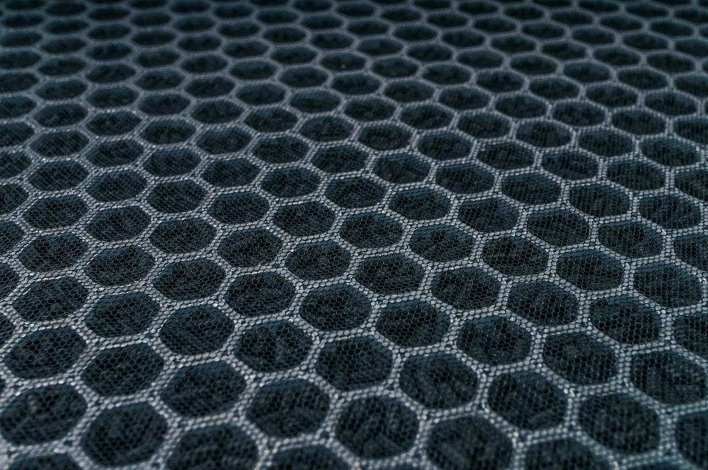 Closeup of a carbon filter.