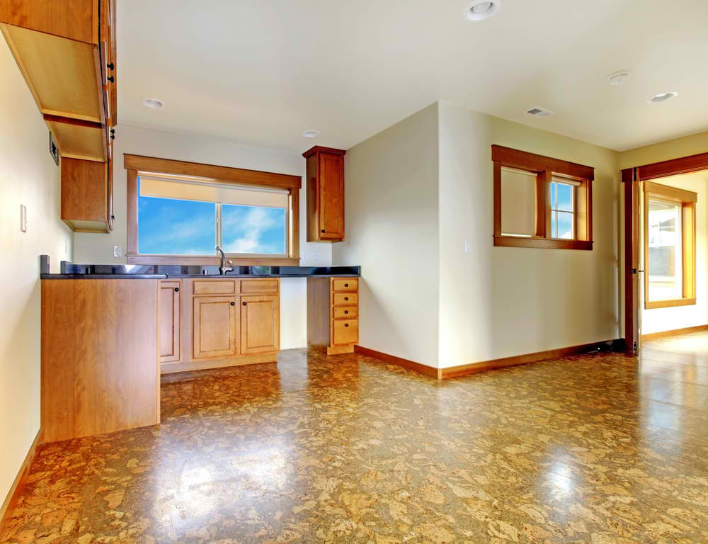 Kitchen with Cork Flooring