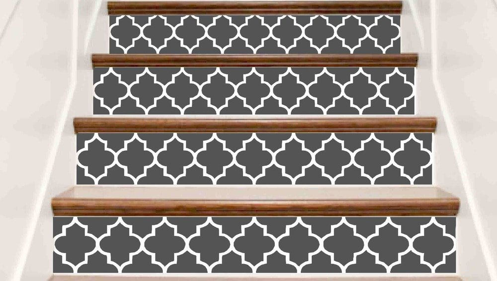 Crowbabys Trellis Decorative Vinyl Stair Riser Decals