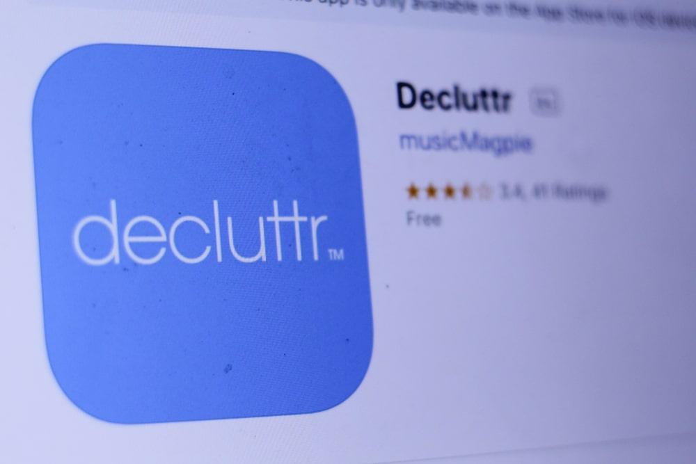 Decluttr homepage