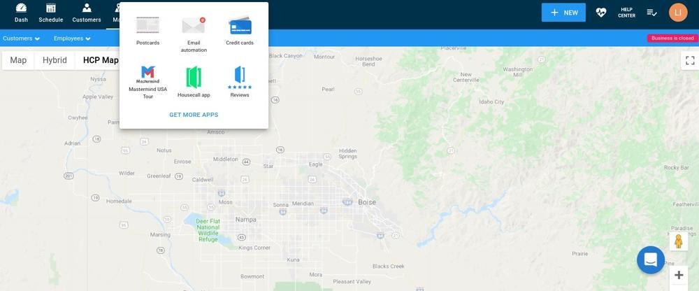 Housecall Pro Desktop Apps Options Screen