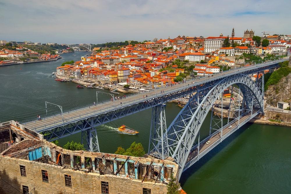 Dom Luis 1 Bridge in Portugal.