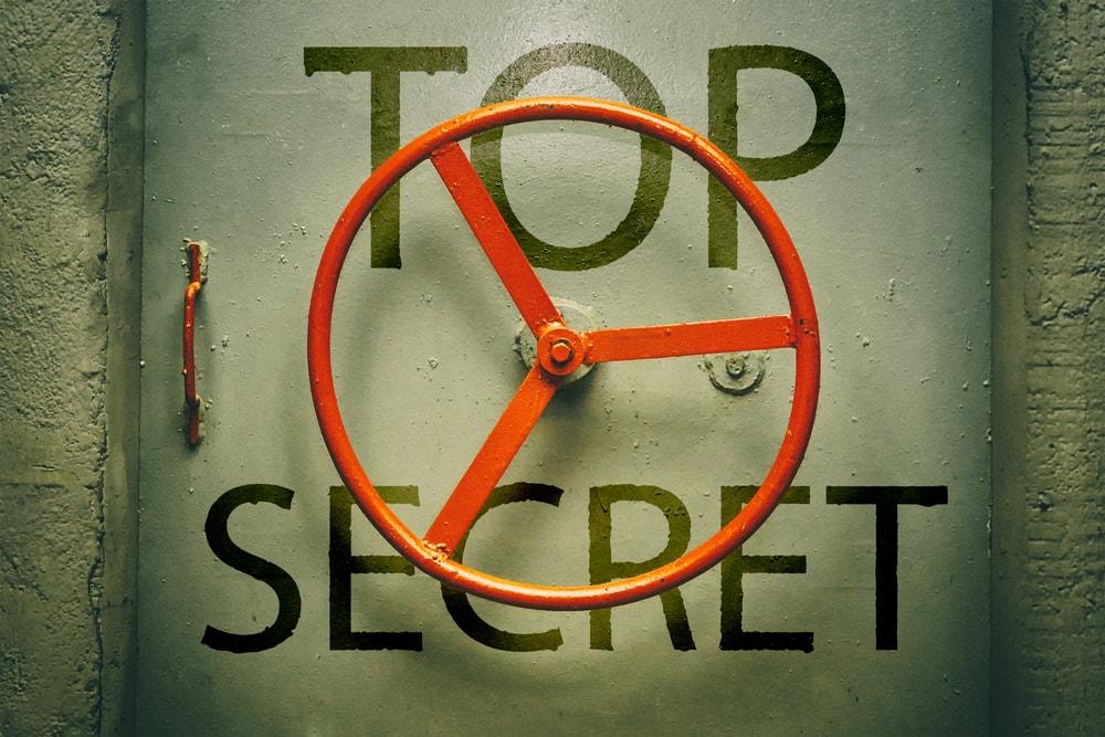 Top Secret door to a doomsday bunker.