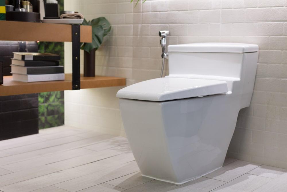 Stylish toilet in a modern bathroom.