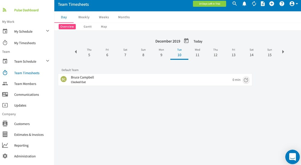 FieldPulse Time Sheets