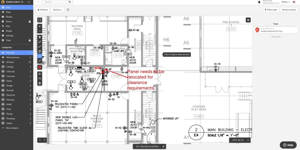 Fieldwire Drawings with Notations