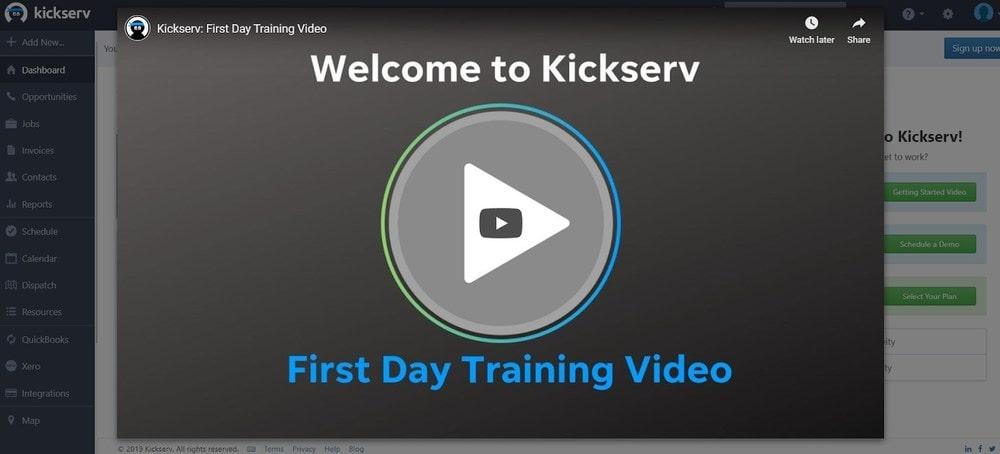 Kickserv Getting Started Page