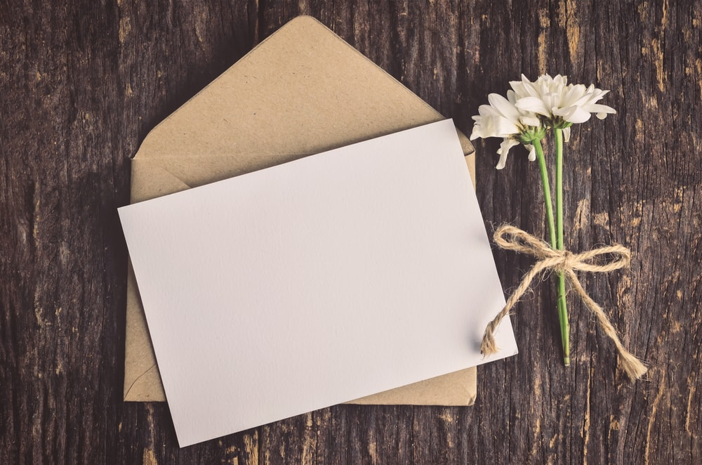 Greeting Card on a rustic background.
