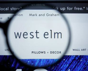 West Elm homepage