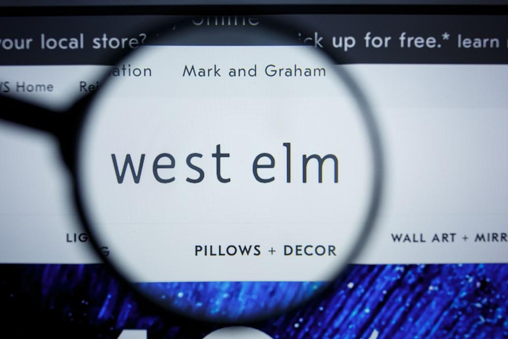 West Elm homepage