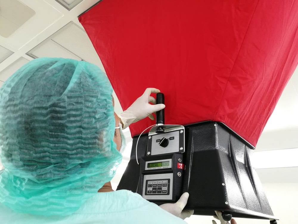 Inspection of a furnace filter.