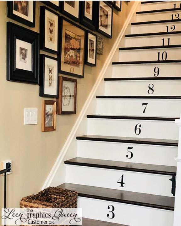 LeenTheGraphicsQueen Number Stair Stickers