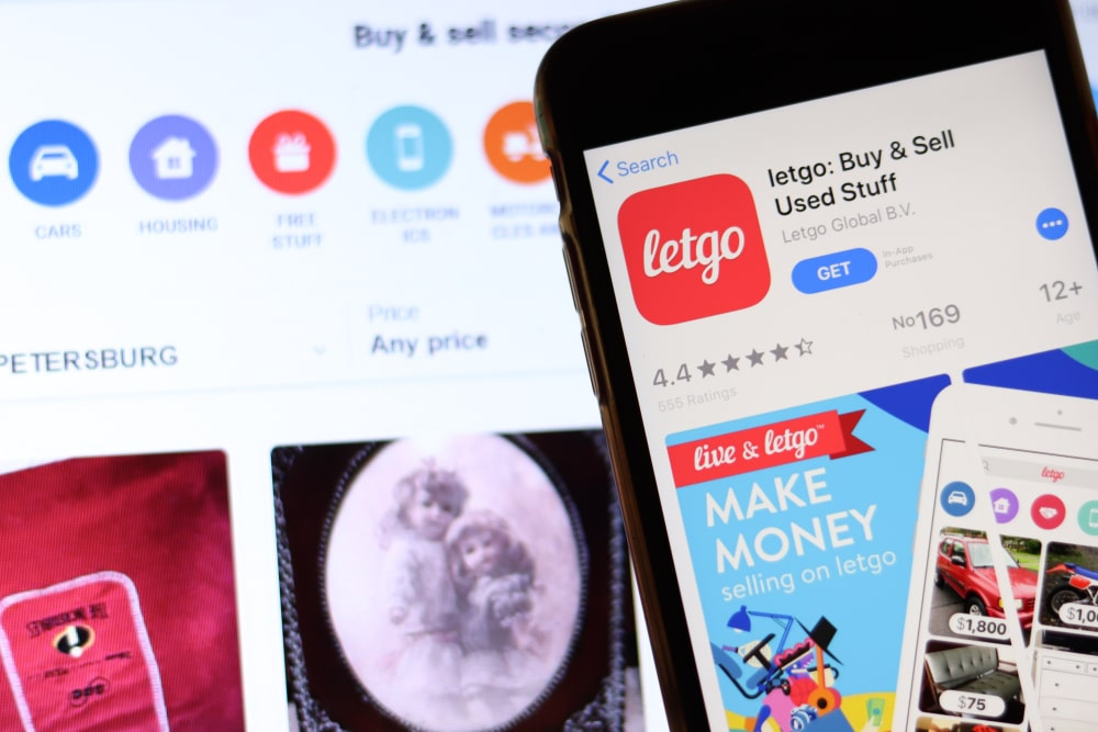 Letgo homepage and mobile app