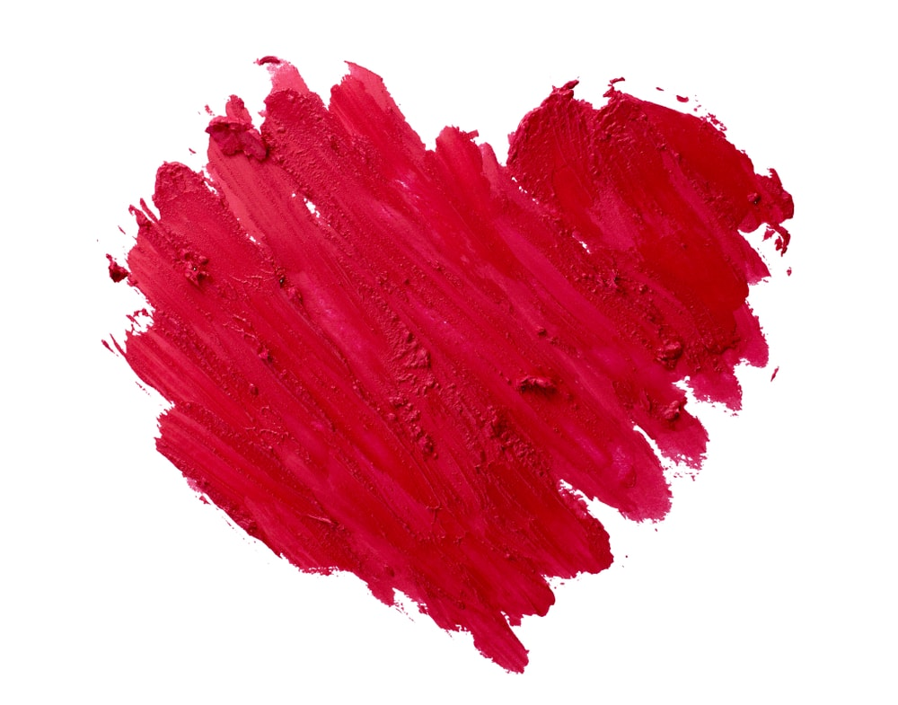 Lipstick Heart-Shaped Smudge