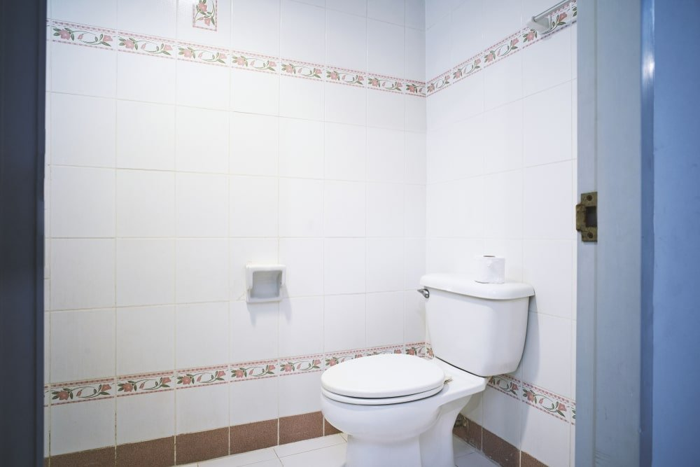Generic toilet in a bathroom.